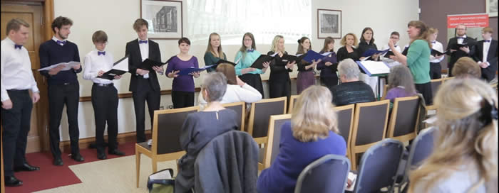 Bangor Chamber Choir performing