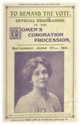 Official programme of the Women's Coronation Procession